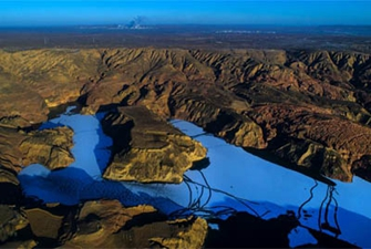 黃土高原上的大規模丹霞景觀帶