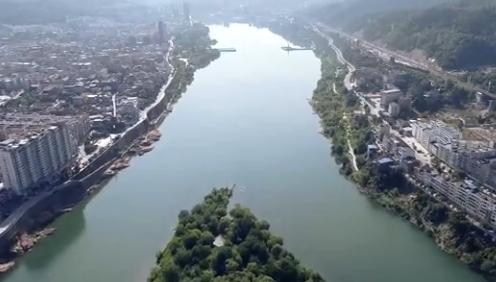 陜西石泉:航拍鏡頭下的水墨晨景