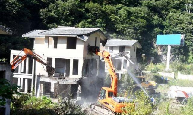 柞水已累計拆除秦嶺違規建築10365平方米