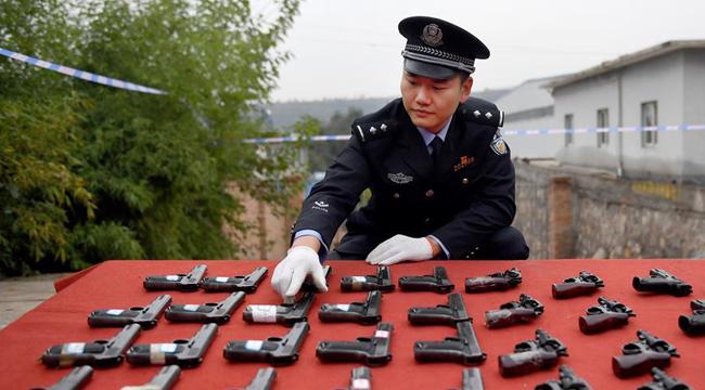 全國146個城市集中統一銷毀非法槍爆物品