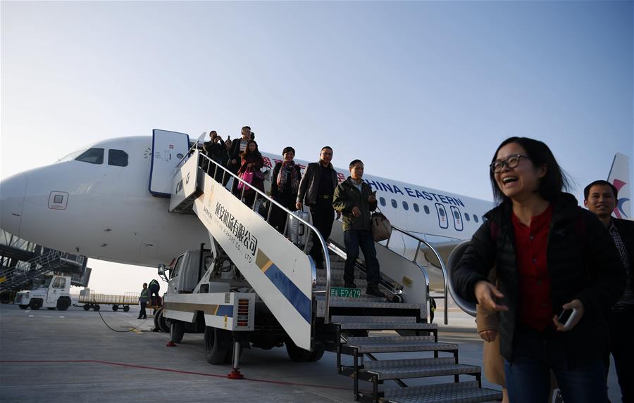 陜西延安南泥灣機場正式通航
