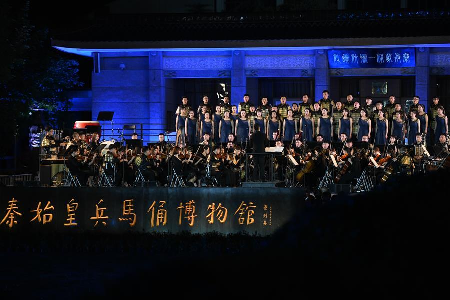 """兵馬俑博物館上演""""奇跡之夜""""音樂會"""