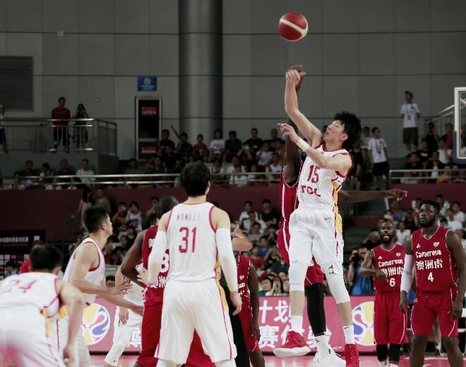 中國男籃西安熱身賽22分大勝喀麥隆