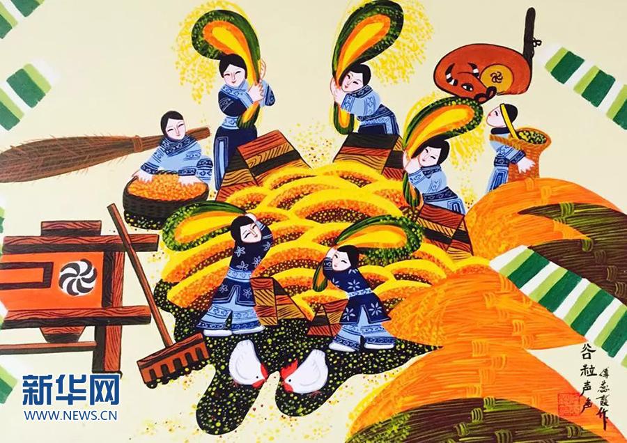 讓農民畫走向更多的國家,用農民畫講好中國故事,傳播中國聲音
