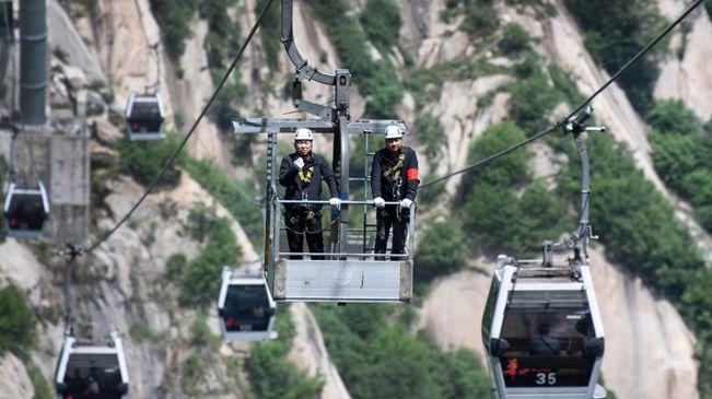 華山西峰索道:讓遊客安全暢遊西岳